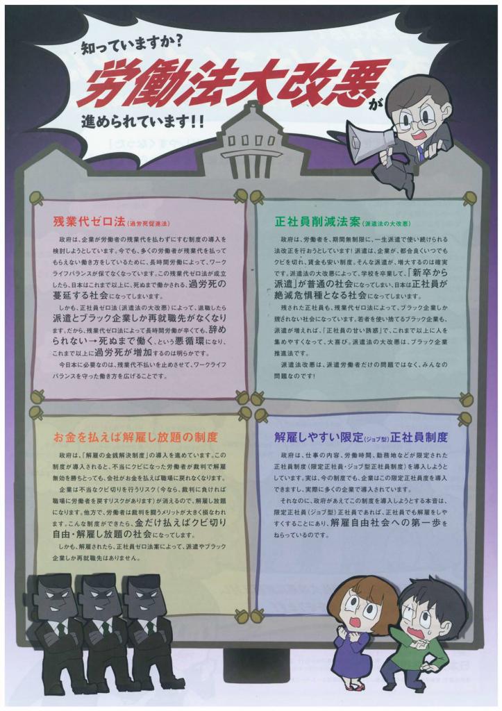 労働法大改悪チラシ(裏)